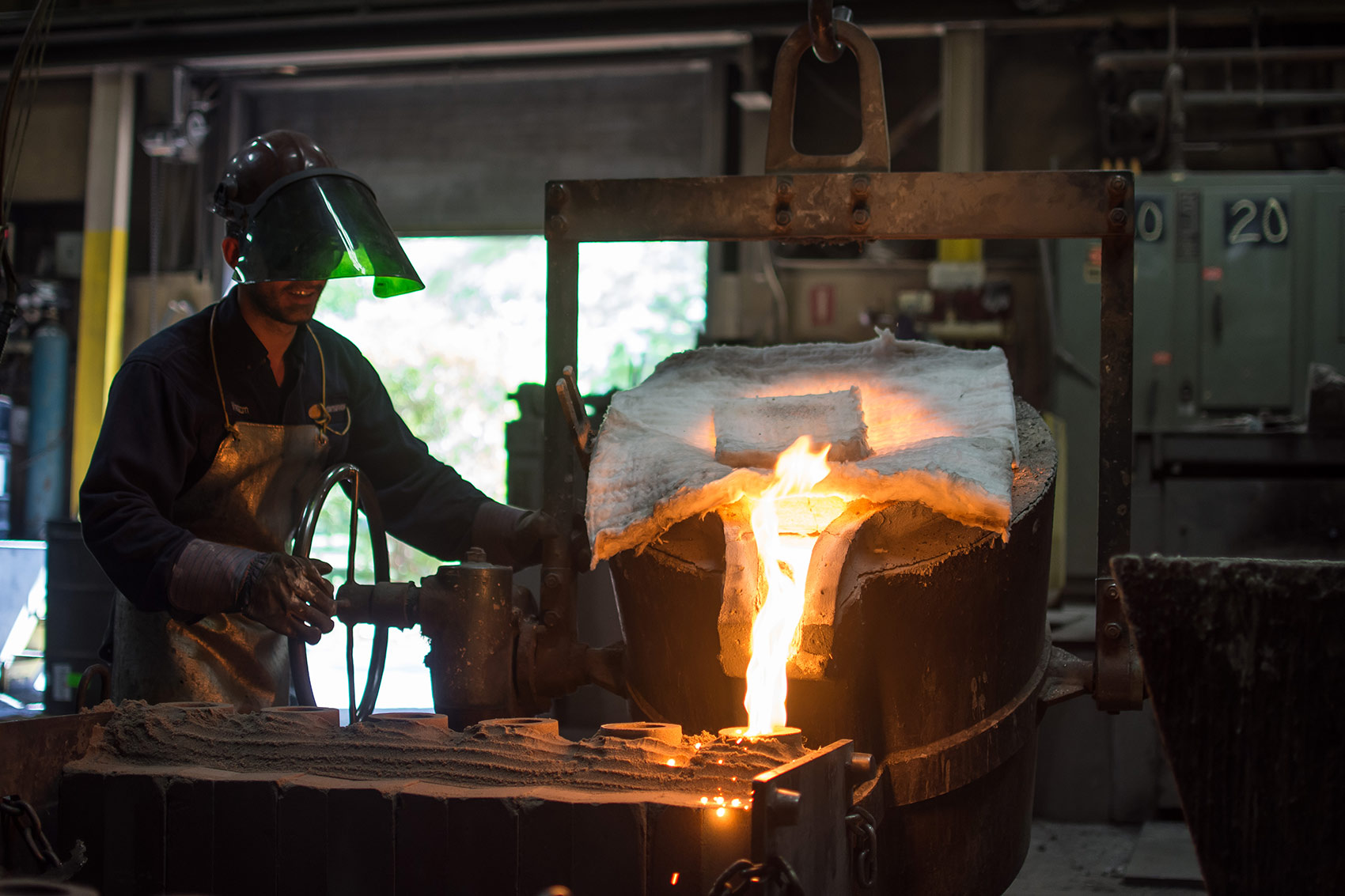 Man pouring mould at Temperform